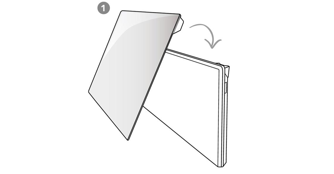 1) Plasser glasset på toppen av ovnen