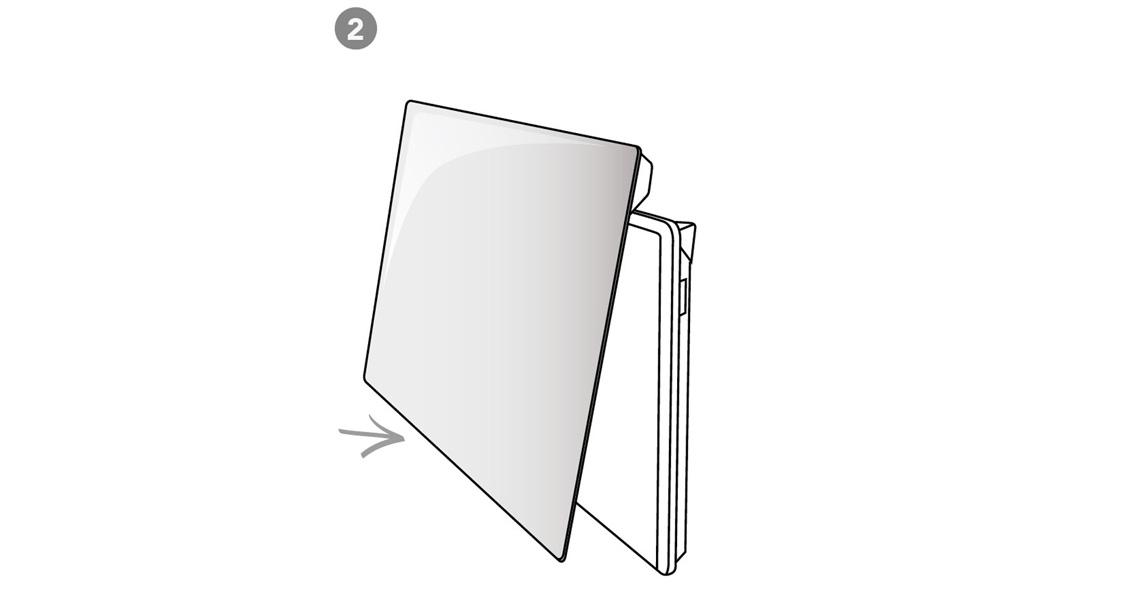 2) Klikk glasset enkelt på plass