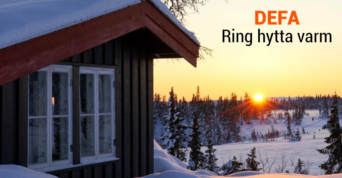 DEFA hyttestyring - Ring hytta varm