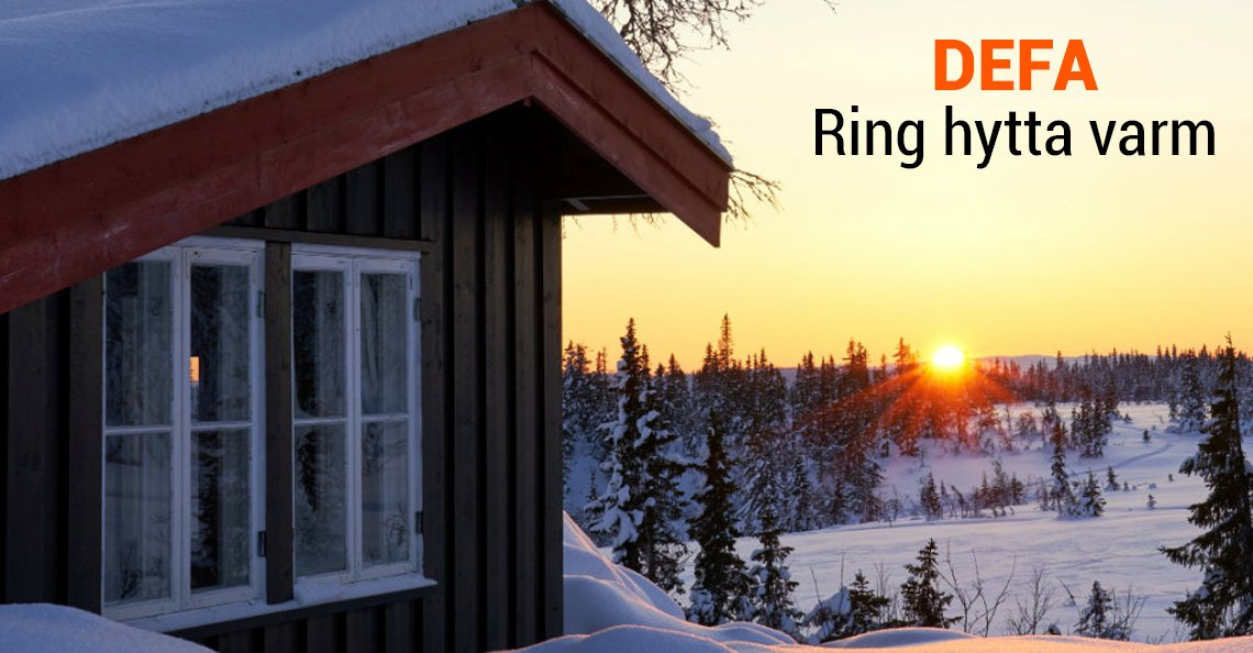 Les om DEFA hyttestyring - Ring hytta varm