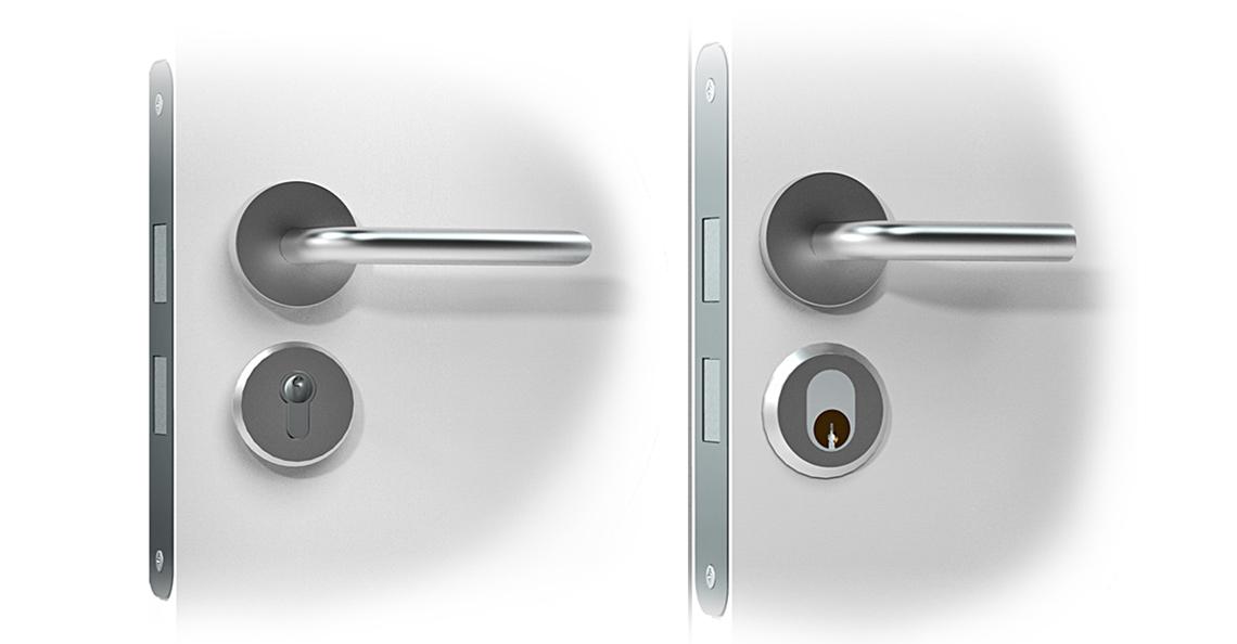 Danalock kan enkelt monteres i standariserte dørlåser