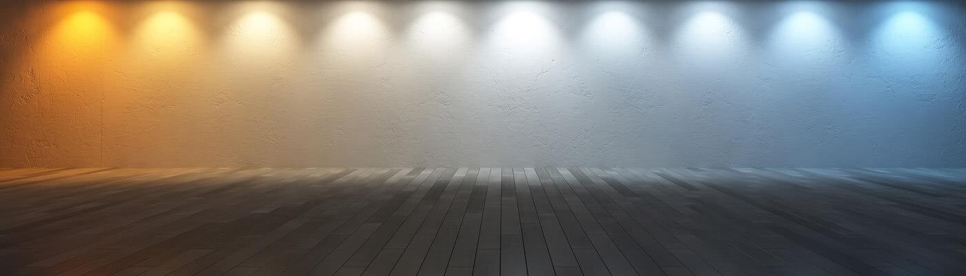 LED downlights kan gi alt fra kaldt blått lys til varmt gult lys
