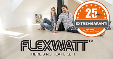 Flexwatt varmefolie har 25 år extremgaranti