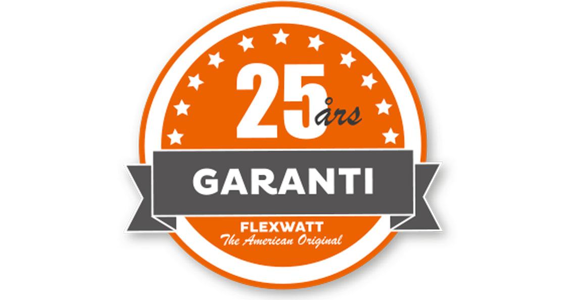 Flexwatt varmefolie har 25års garanti