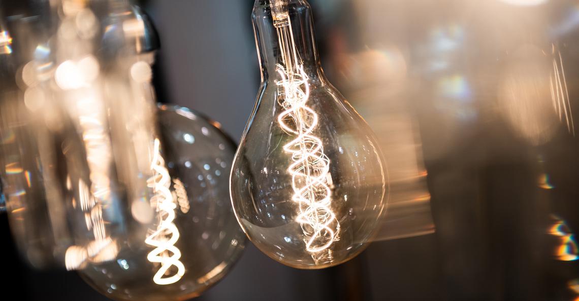 LED pærer på hytta