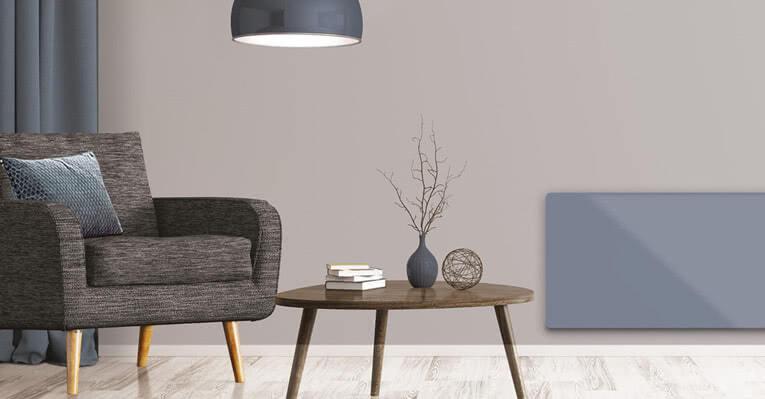 Gulvvarme og panelovner i stuen