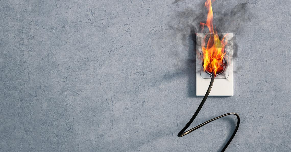 Pulverapparat er best til elektrisk brann