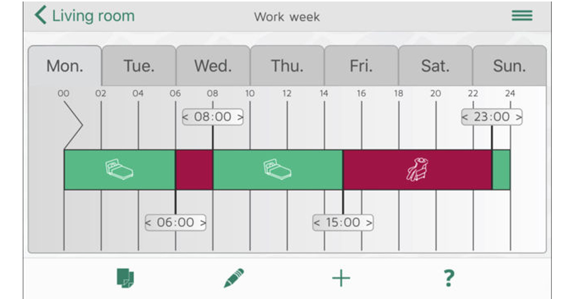 Enkelt oppsett av ukesprogram