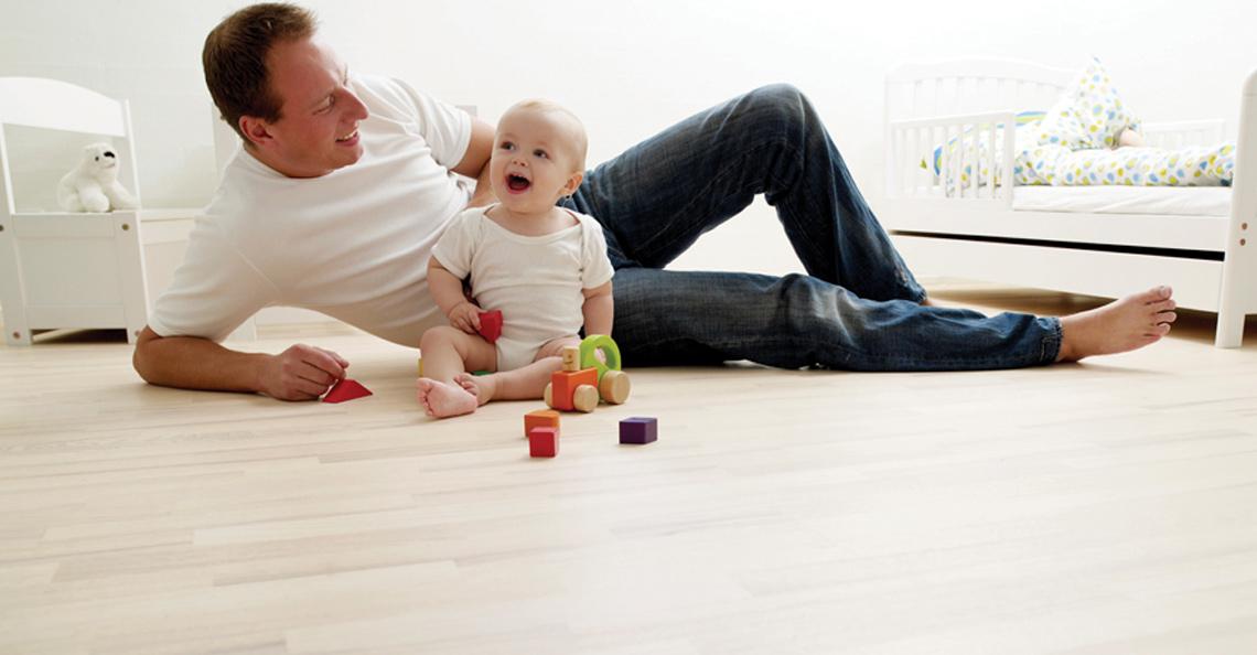 Gulvvarme er perfekt for barnefamilier