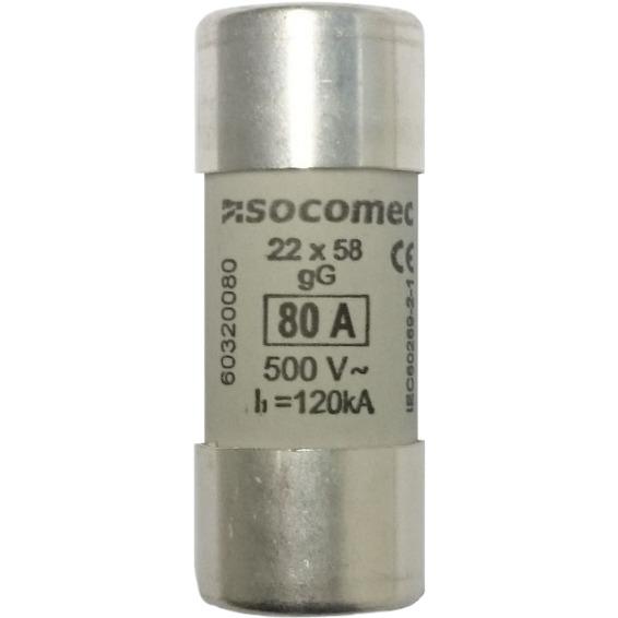 Sikring 80A gG 500V 22x58mm