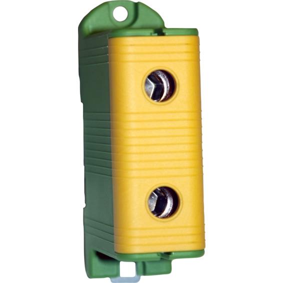 Koblingsklemme AL/CU 240mm² Enkel Gul/Grønn