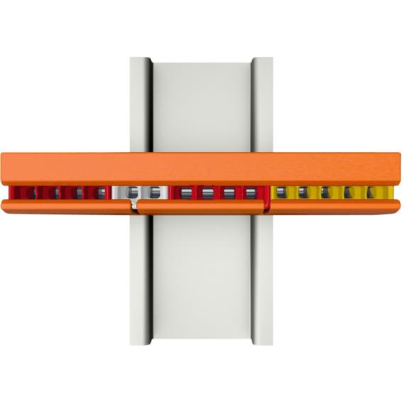 Holder for DIN skinnefeste 2773 serie orange Wago