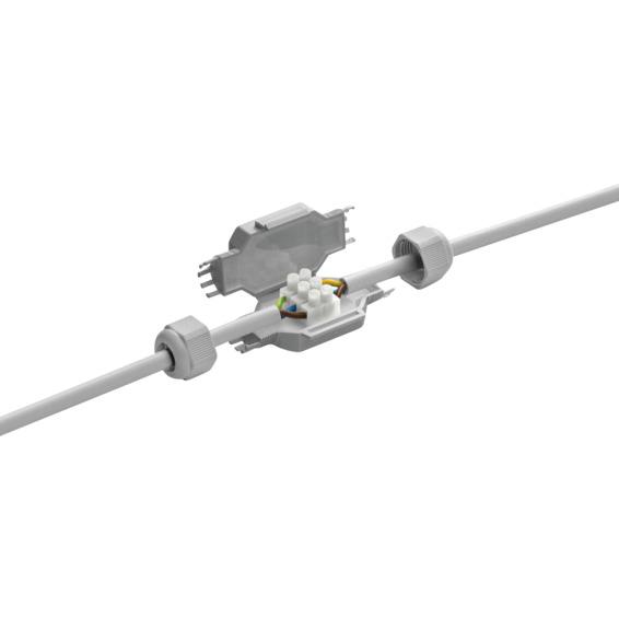 Kabelskjøt IP68 gelfylt 2x2,5 Barney