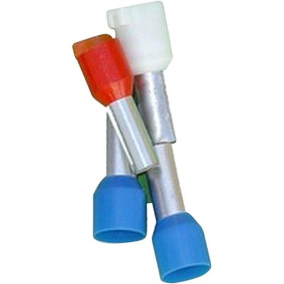 Isolert Endehylse 1mm² Rød Normal