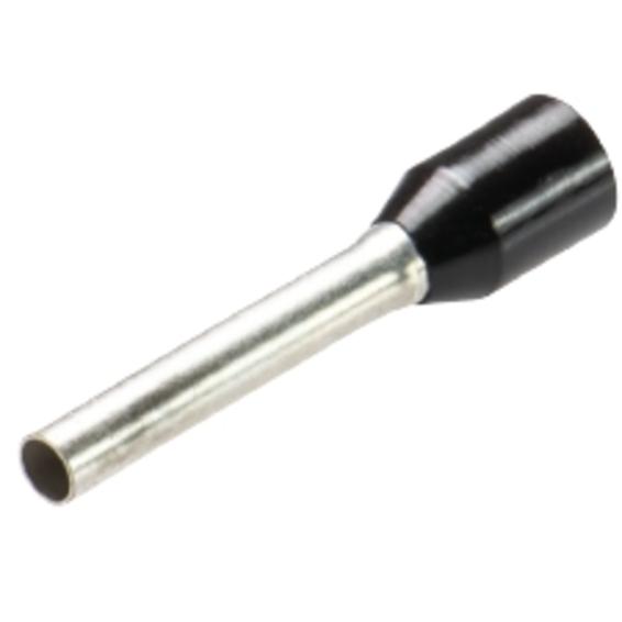 Isolert Endehylse 1,5mm² Sort Normal