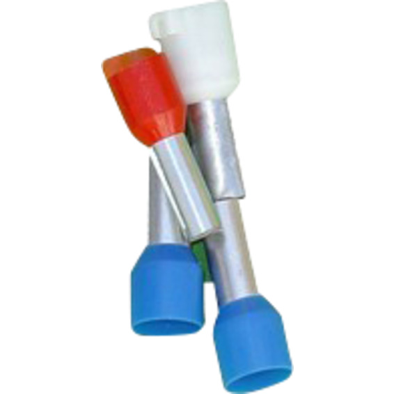 Isolert Endehylse 1,5mm² Sort Lang