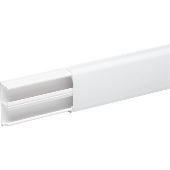 Minikanal 2 rom hvit PVC OL1230