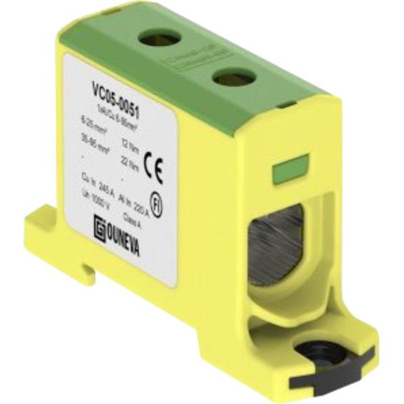 Klemme isolert OTL 1x6-95mm² AL/CU Gul/Grønn