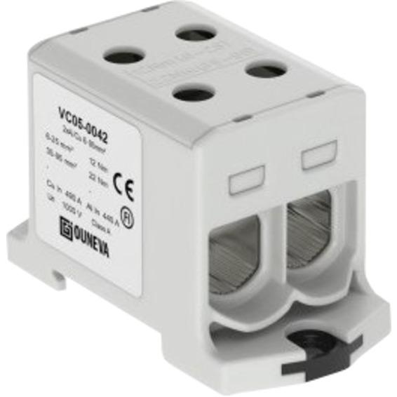 Klemme isolert OTL 2x6-95mm² AL/CU Grå