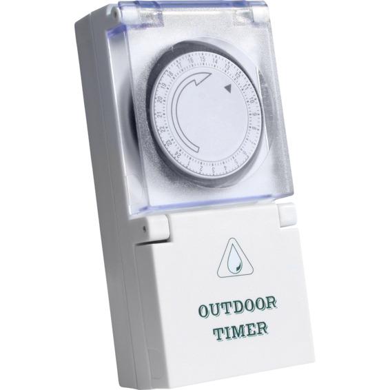Namron Timer Tidsur Mekanisk Utebruk 16A 1402706 Koblingsur/Timer