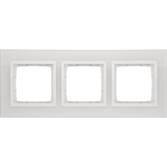 Simon 3-Hulls glass ramme White Pearl