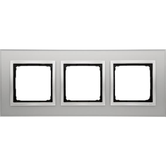 Simon 3-Hulls glass ramme Silver Fog