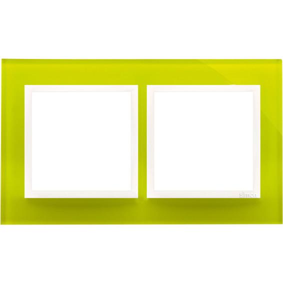 Simon 2-Hulls glass ramme Lime Sorbet
