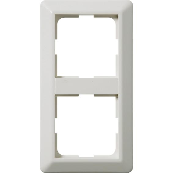 Kombinasjonsplate 2-hull RS16 L572 Hvit Elko