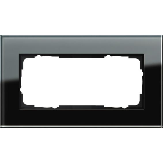 2-HULLS RAMME ÅPEN SVART GLASS ESPRIT