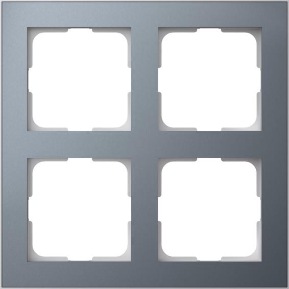 Elko Plus Layer ramme AL/Tinn MR 2x2H