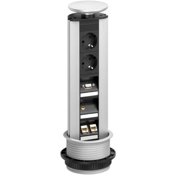 EVOline Port Multimedia - 2x stikk, USB, HDMI, 2x RJ45