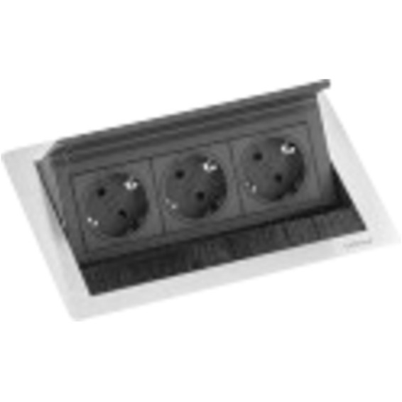 EVOline FlipTop Push Small USB - 2x stikk 2x USB lader