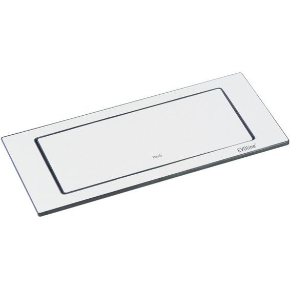 EVOline BackFlip hvit lakkert stål 2xstikk 1x1000mA USB