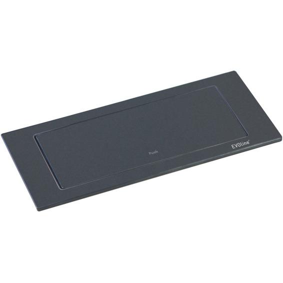 EVOline BackFlip sort lakkert stål 2xstikk 1x1000mA USB