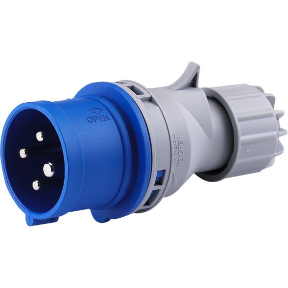 St�psel 32A 3Pol+J 230V 9H IP44. 332-9 HTN024-9
