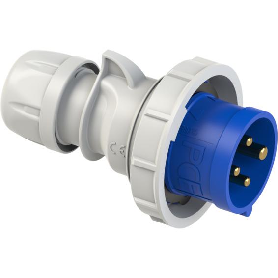 Støpsel 16A 3Pol+J 230V 9H IP67