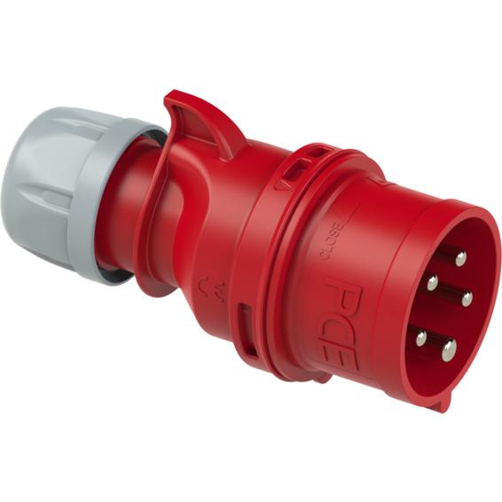 Støpsel Fasevender 32A 3Pol+N+J 400V 6H IP44