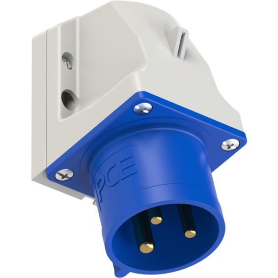 Apparatinntak IP44 32A 2P+J 230V 6H
