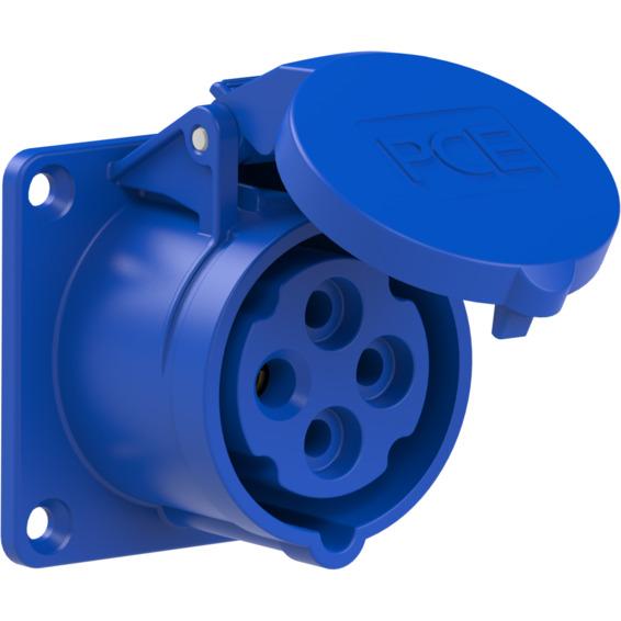 Stikkontakt Innfelt Rett 16A 3Pol+Jord 230V 9H IP44