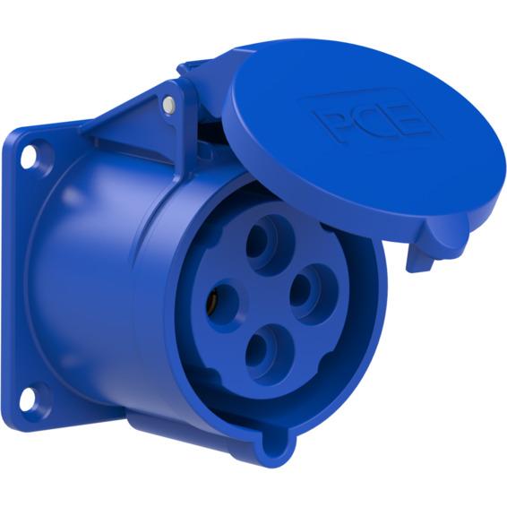 Stikkontakt Innfelt Rett 32A 3Pol+Jord 230V 9H IP44
