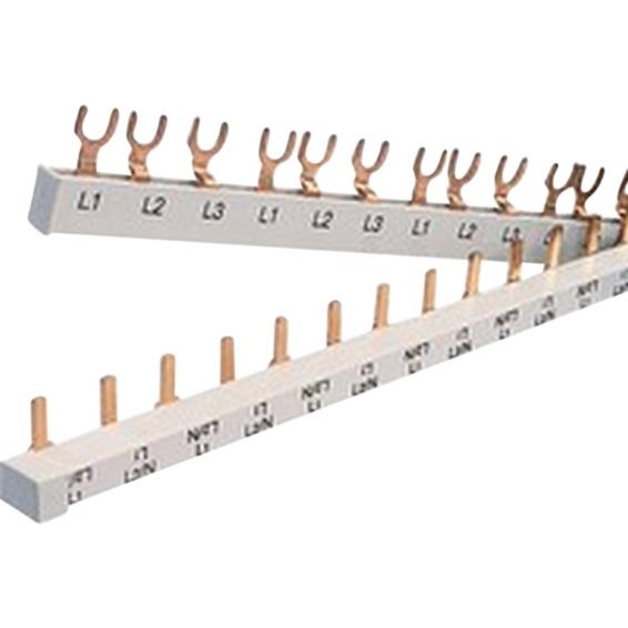 SAMLESKINNE 2P Gaffel JFA 3 moduls 2P 16mm² 1 meter Pollmann