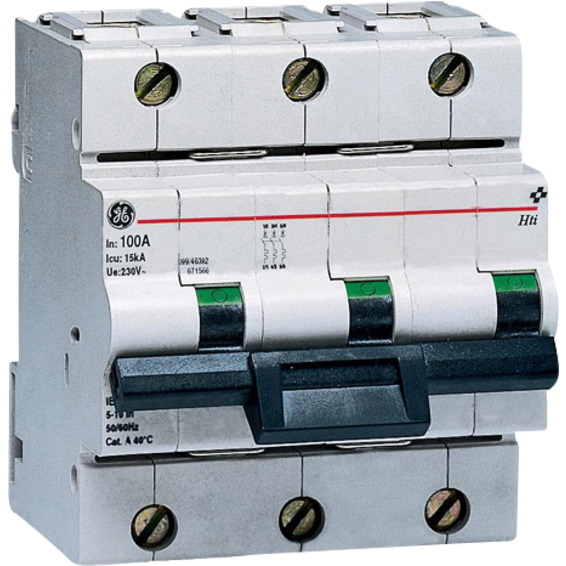 Effektbryter HTI 103 C 100A 3-Pol Modul�r 10kA
