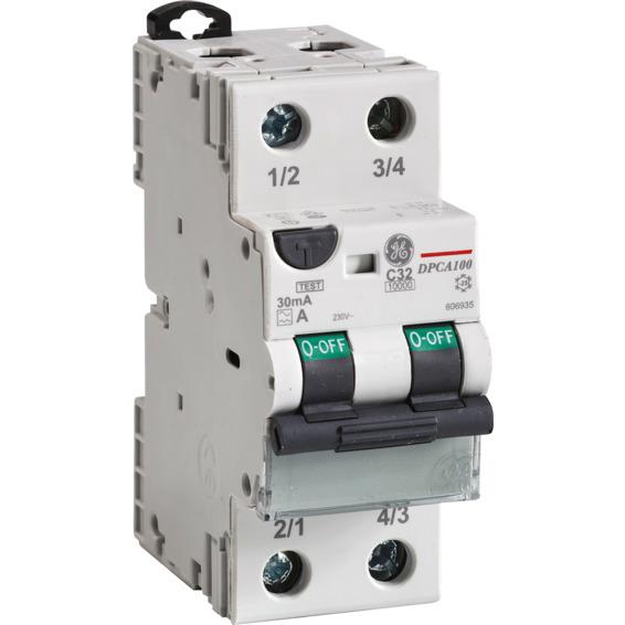Jordfeilautomat 2P 10kA C 16/030  DPCA100C16/030