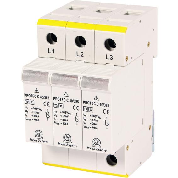 Overspenningsvern Protec 3-pol C120/385V 20KA EFA