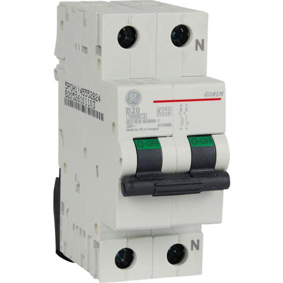 Automatsikring 1 Pol+N 20 A B Kar.2 Moduler EFA