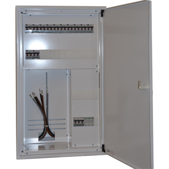 Sikringsskap ferdigkoblet med målerplass 230V