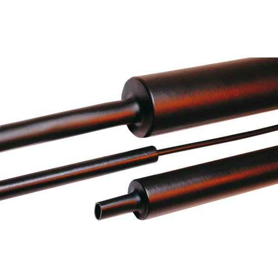 Krympeslange Tredux MA47 19/6mm Sort med lim 1m
