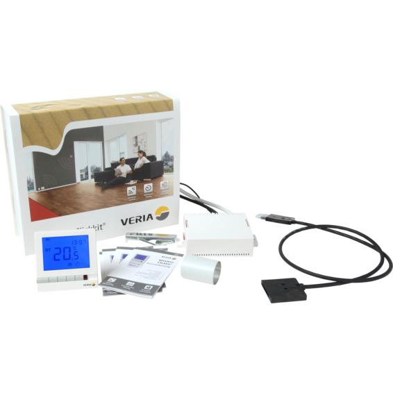 Veria Clickkit 100 Trådløst termostatsett, Termostat/boks