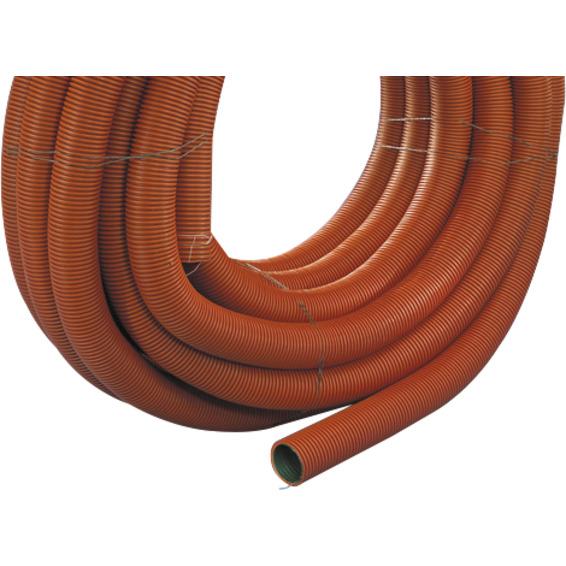 Kabelrør DVR 50mm rød med trekketråd 50m SN8