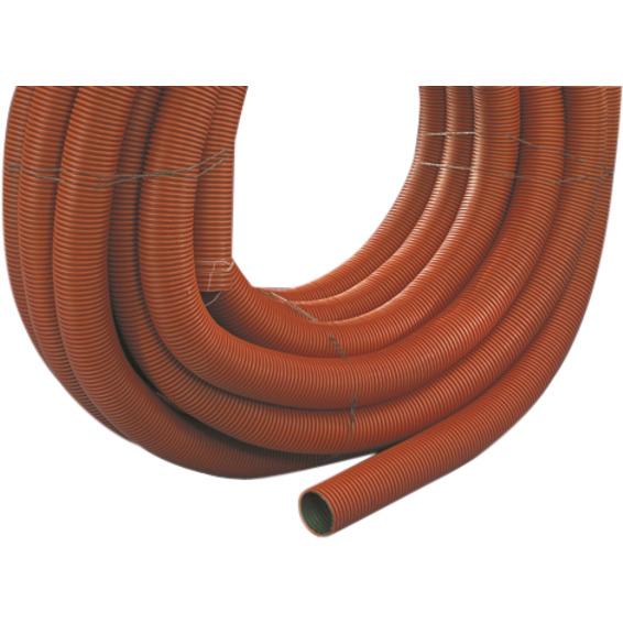 Kabelrør DVR 75mm rød med trekketråd 50m SN8